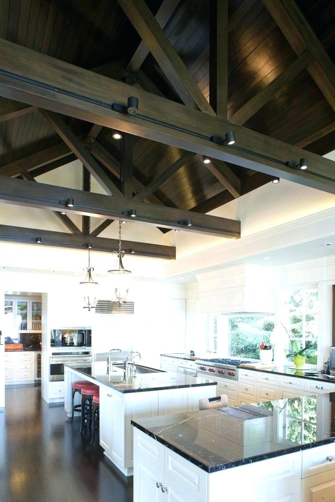 Exposed Beam Lighting Ideas Google Search Vaulted Ceiling Lighting Kitchen Remodel Ceiling Fan In Kitchen