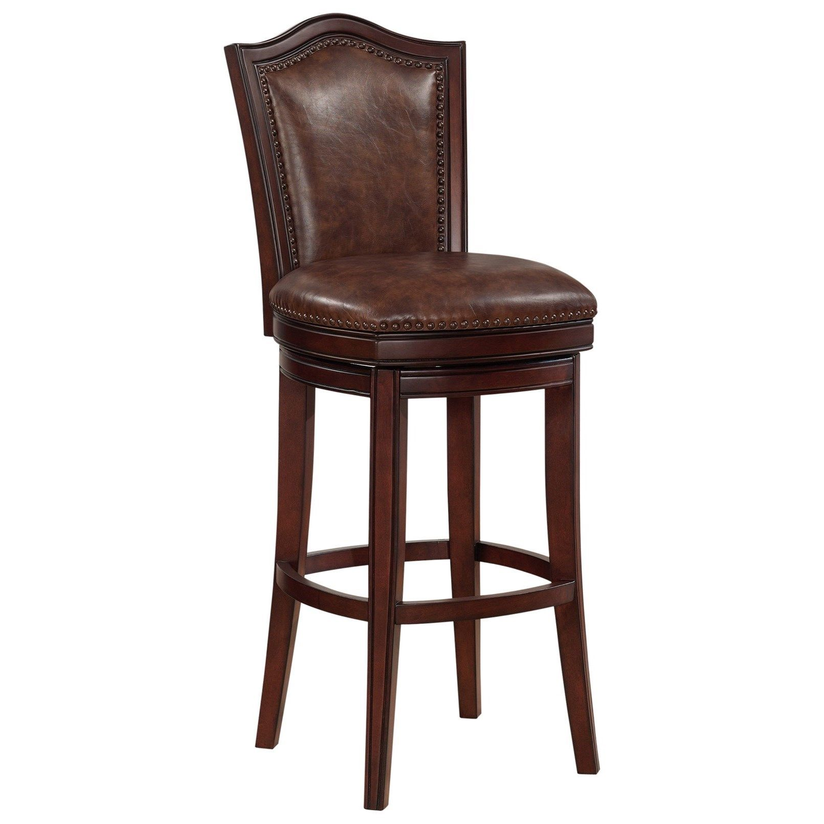 Jordan Upholstered Swivel Counter Height Stool With