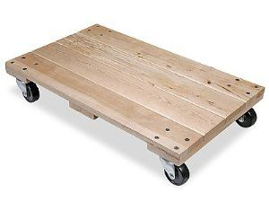 Solid Top Hardwood Dolly 3 Casters By Uline 47 00 Solid Top Dollies Heavy Or Small Loads Glide Smoothly On This 7 Diy Furniture Dolly Hardwood Casters