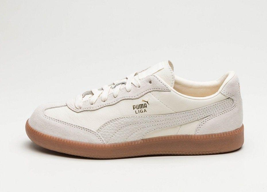 cd2de2d820babe Puma Liga Leather (Whisper White   Whisper White) - Women - Sneaker