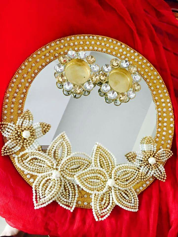 Ring Platter Crafts Thali Decoration Ideas Engagement Ring