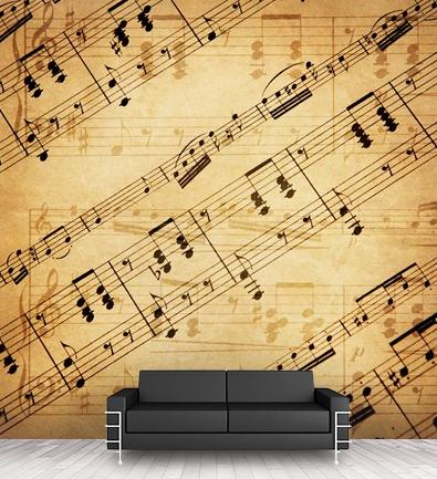 Vintage Music Sheet wallpaper @ Wall Stickers Next. https ...
