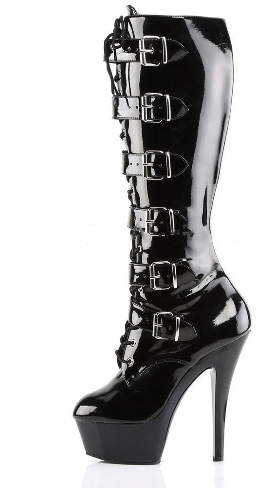 Inked Boutique - Kiss-2049 Stiletto Heel Platform Knee Boot Goth Fetish www.inkedboutique.com