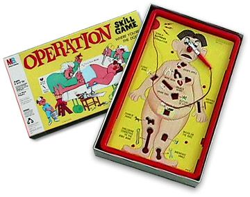 Operation game. My brother and I pooled our financial resources($6) to buy one in 1970!