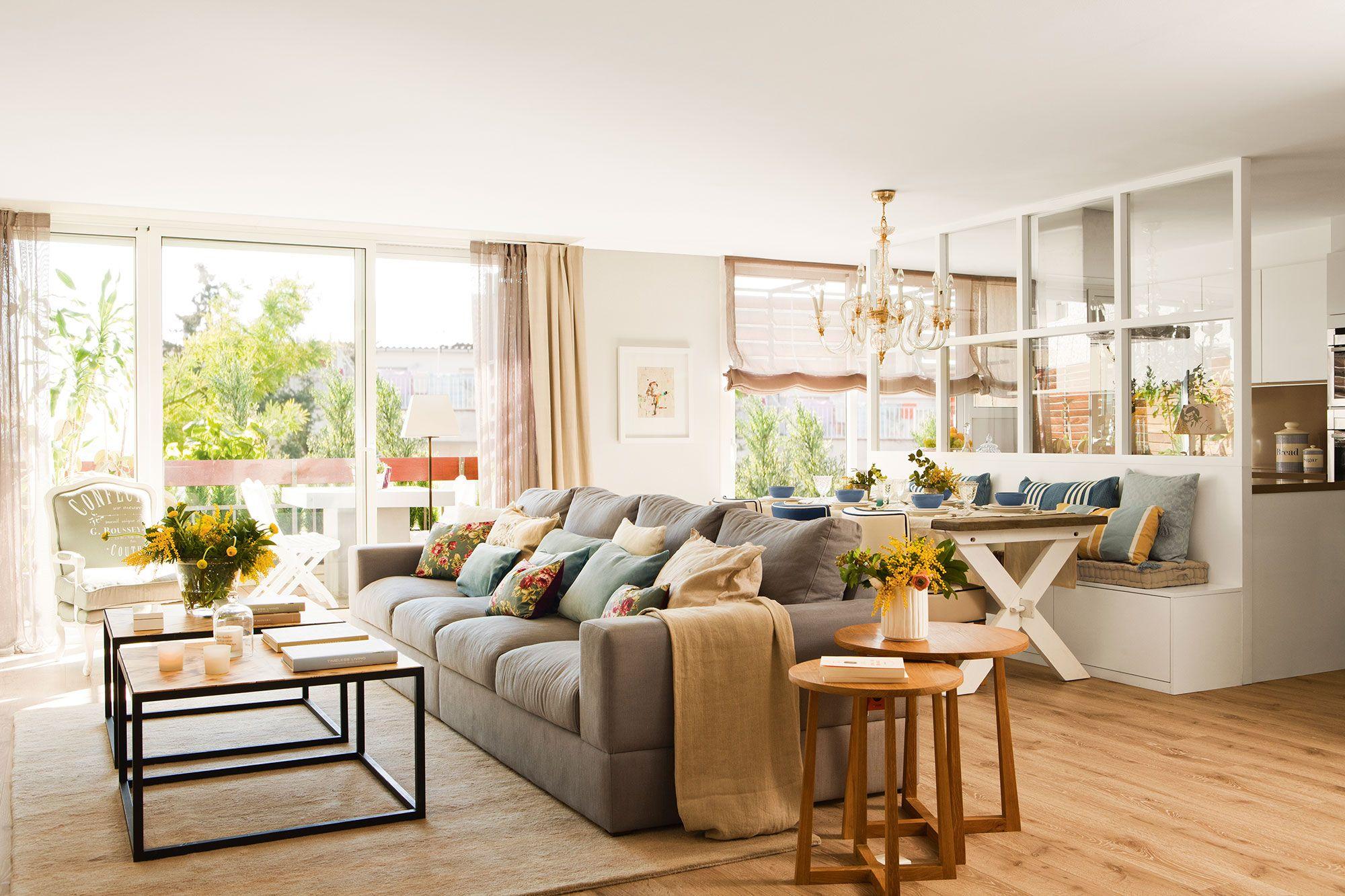 Tres en raya salones modernos y acogedores cocina - Comedor salon moderno ...