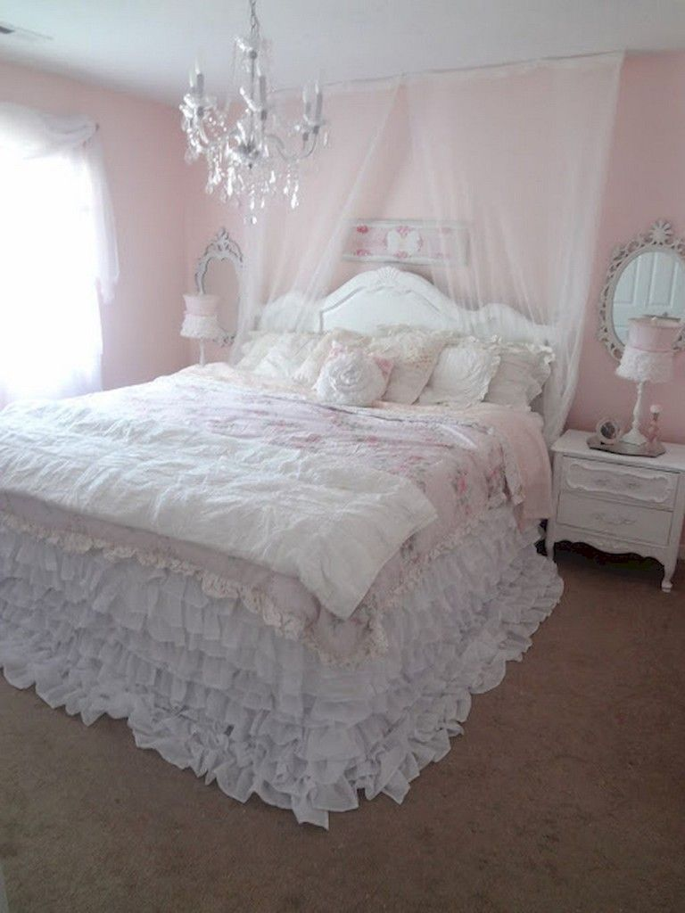 84+ Nice Shabby Chic Bedroom Decor Furniture Inspirations