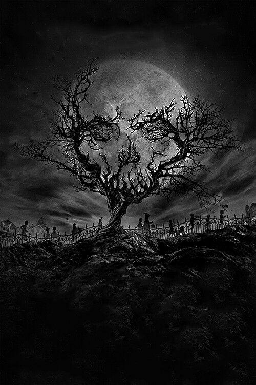 Skull tree | Cool shit in 2019 | Skull art, Graveyard tattoo, Skull