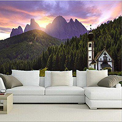 Malilove Die Benutzerdefinierte 3D Wandbilder, Italien Berg Tempel Wälder  Natur Wallpaper, Wohnzimmer Sofa Tv
