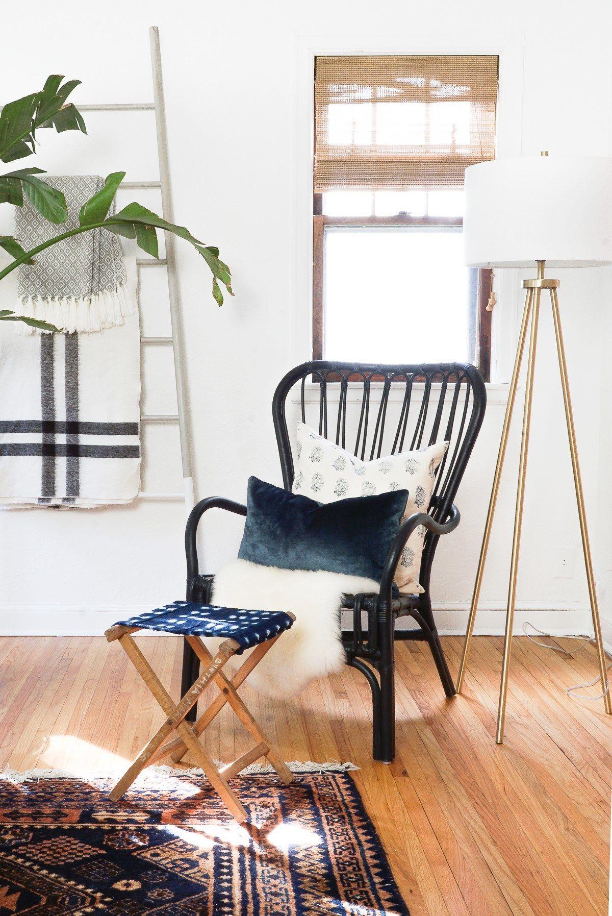 DIY Wood Dowel Blanket Ladder Home decor, Diy home decor