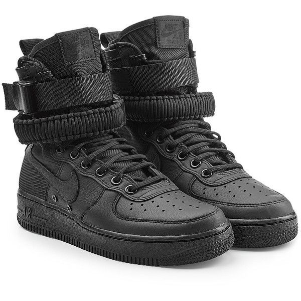 8206f2d4e Nike SF Air Force 1 High Top Sneakers (1205785 PYG) ❤ liked on Polyvore  featuring men's fashion, men's shoes, men's sneakers, black, mens high top  sneakers ...