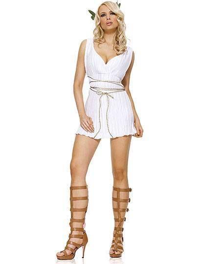 Sexy Hot Greek Goddess Cleavage Dress u0026 Wrap Costume Set Halloween Party M/L New #Flirt #CompleteCostume  sc 1 st  Pinterest & Sexy Hot Greek Goddess Cleavage Dress u0026 Wrap Costume Set Halloween ...