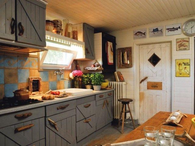 Déco Cuisine Nature à La Mode Cuisine Pinterest Meubles - Cuisiniere ancienne pour idees de deco de cuisine