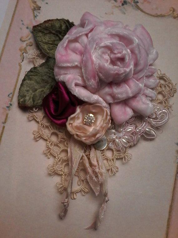 EMBROIDERED LACE FLOWER RIBBON TRIM WEDDING GIFT DIY CRAFT SATIN SILK BINDING