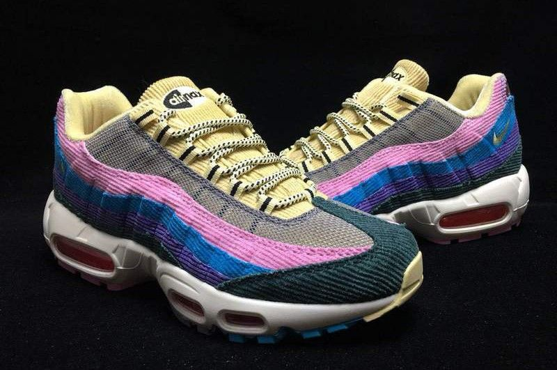 "0dfaf7d5ae Nike Air Max 95 OG QS ""Sean Wotherspoon"" Pink/Lake Blue-Purple Lightweight  Sneakers AJ4219-600"
