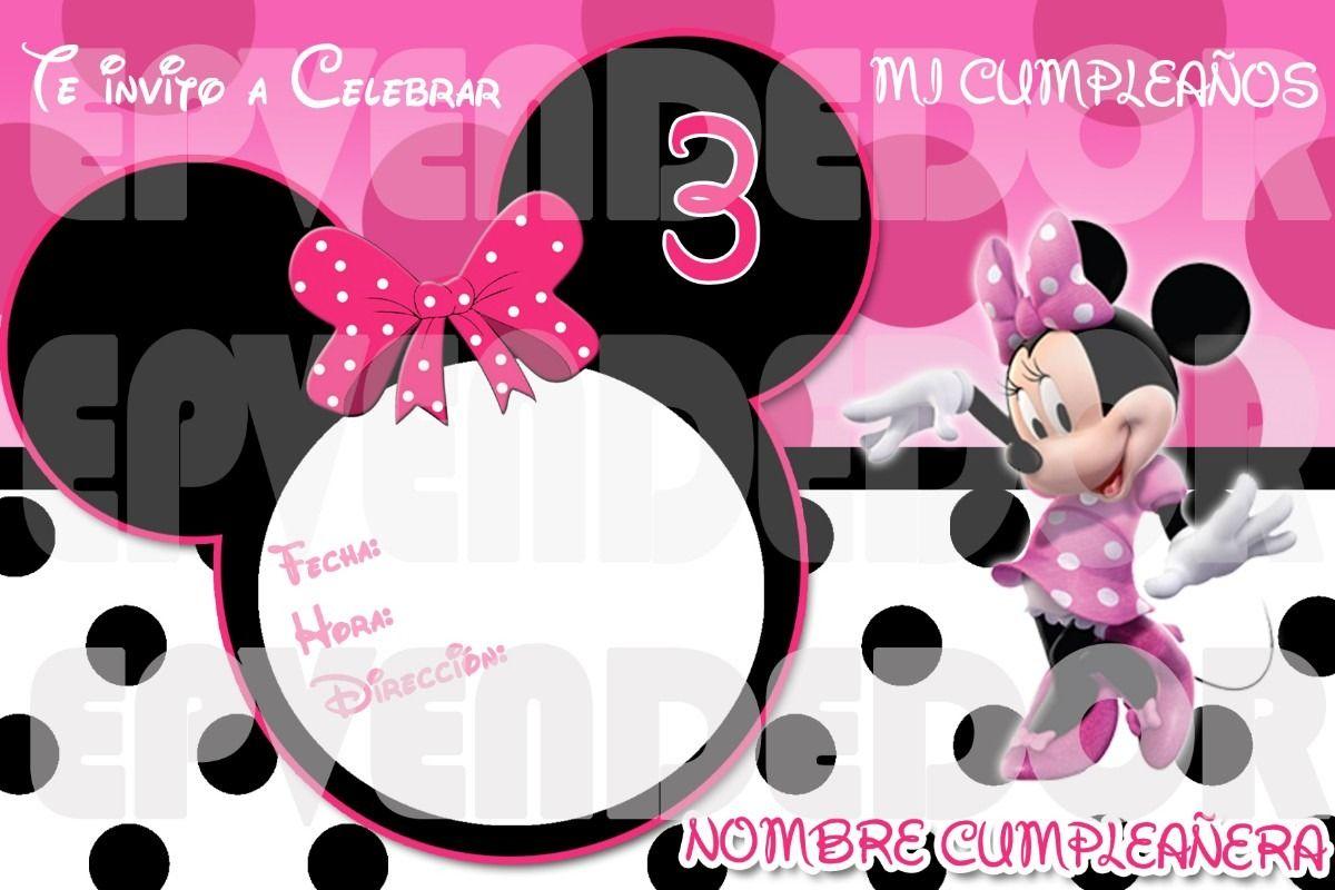 Invitaciones De Cumpleaños De Minnie Mouse Hd Para Bajar Gratis 3 en HD Gratis juli