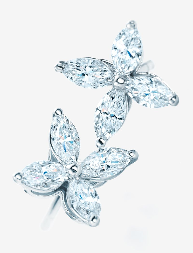 Tiffany Victoria™ Earrings In Platinum With Diamonds