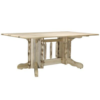 Loon Peak Abordale Double Pedestal Solid Wood Dining Table in 2018