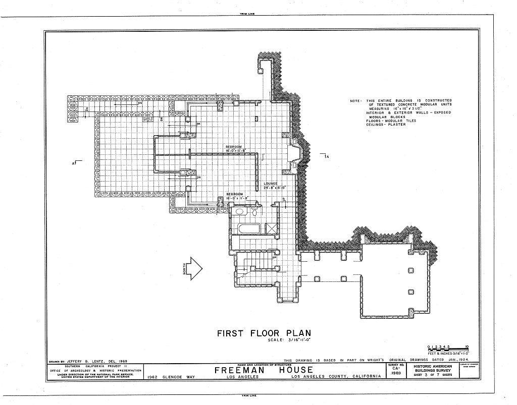 00003v Jpg 1024 803 Vintage House Plans Frank Lloyd Wright House Design