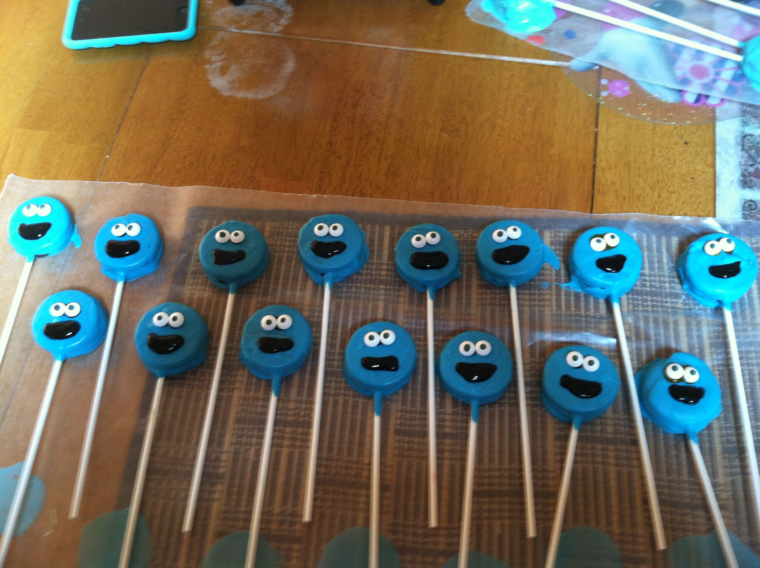 Cookie monster Oreo pops My creations Pinterest