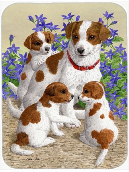 Jack Russell Terriers Glass Cutting Board