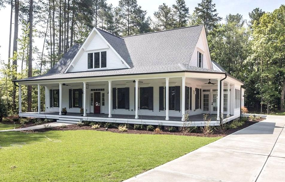 Southern Living Farmhouse Revival Plan No 1821 Black And White Farmhouse By Garmen Olivia By Plex In 2020 Farmhouse Style House Porch House Plans Southern House Plans