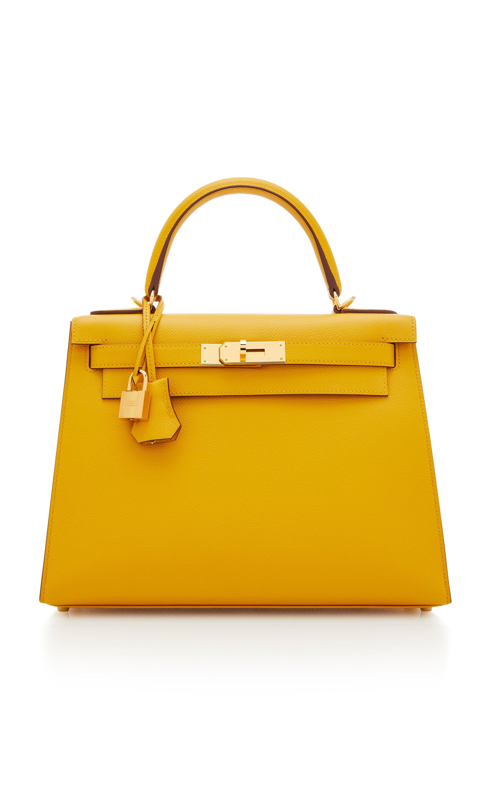 Hermes Jaune Ambre Epsom Leather Sellier Kelly by HERMES VINTAGE for  Preorder on Moda Operandi 848519c07f64a