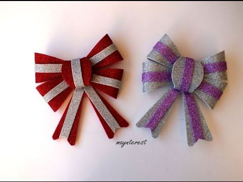 lazo decorativo de goma eva foamy navidad christmas decorative bow