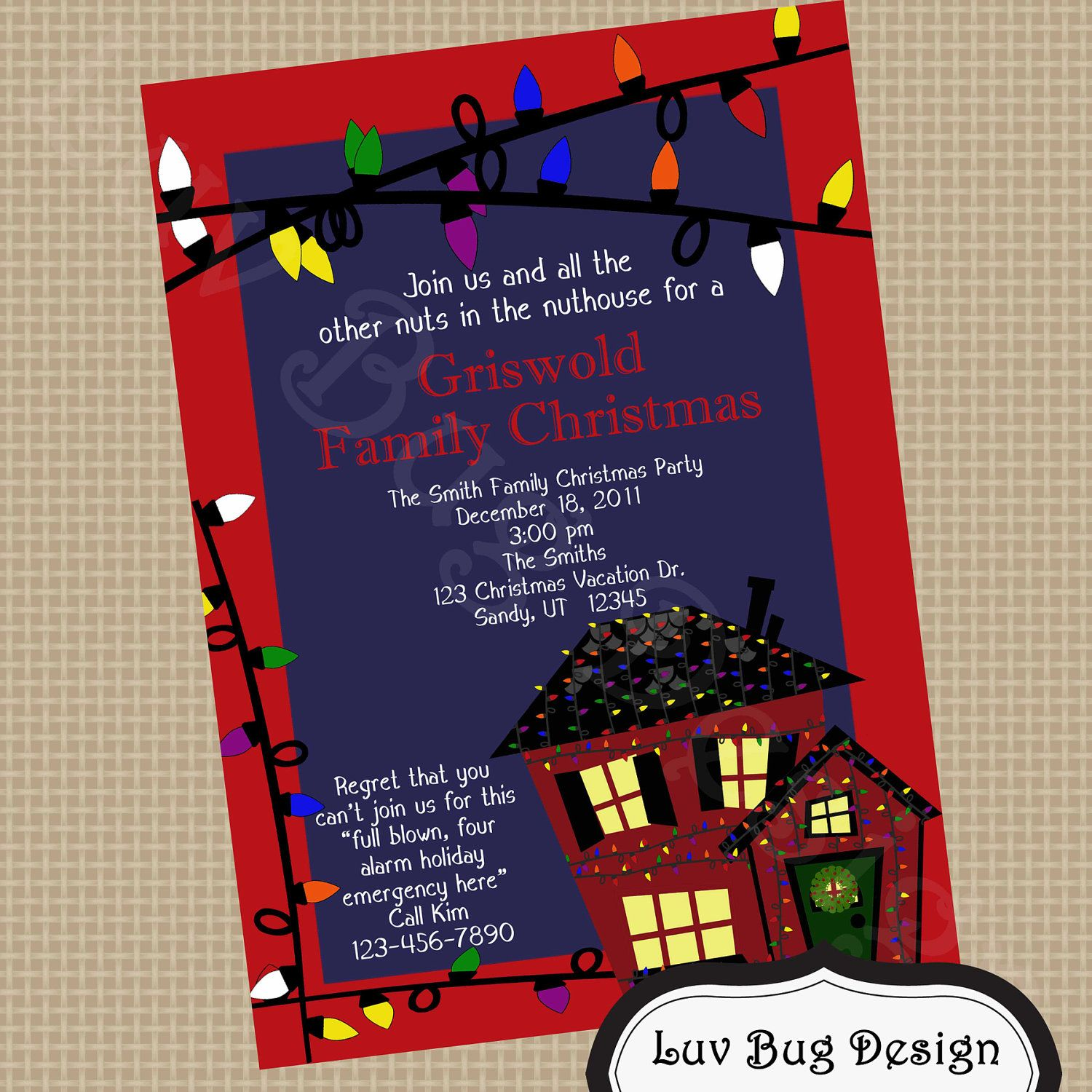 Printable Christmas Vacation Griswold Christmas Party Invite Diy Printable Party Invitation By