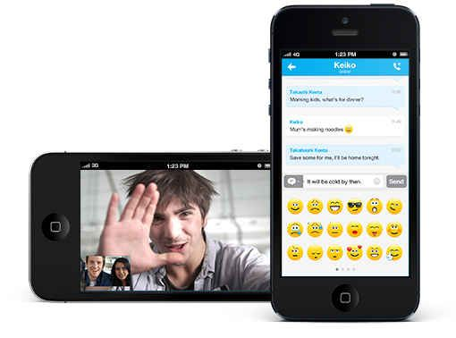 The Skype app helps you keep in touch. Best iphone