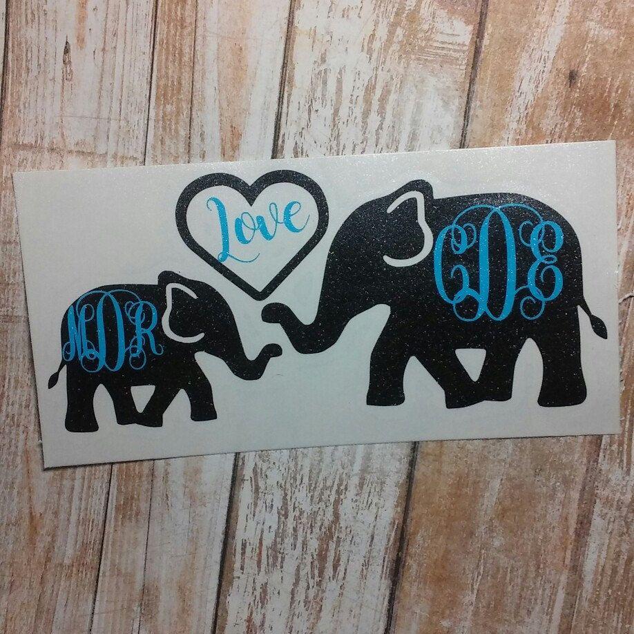 Elephant Vinyl Decal Animal Decal Car Decal Yeti Decal Etsy