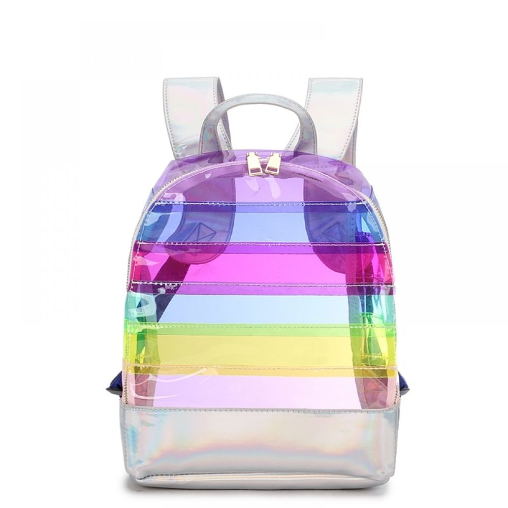 Fashion Transparent Striped Women Backpacks   $44.00  #you1me #gadgets #necklaces #shoppings #shoppinglover #shoppingonline #shopping4u #shoppingfamily #outdoor #shoppingonline #speakers #gadgets #apparel #shoppingday #decor #gadgets #sale