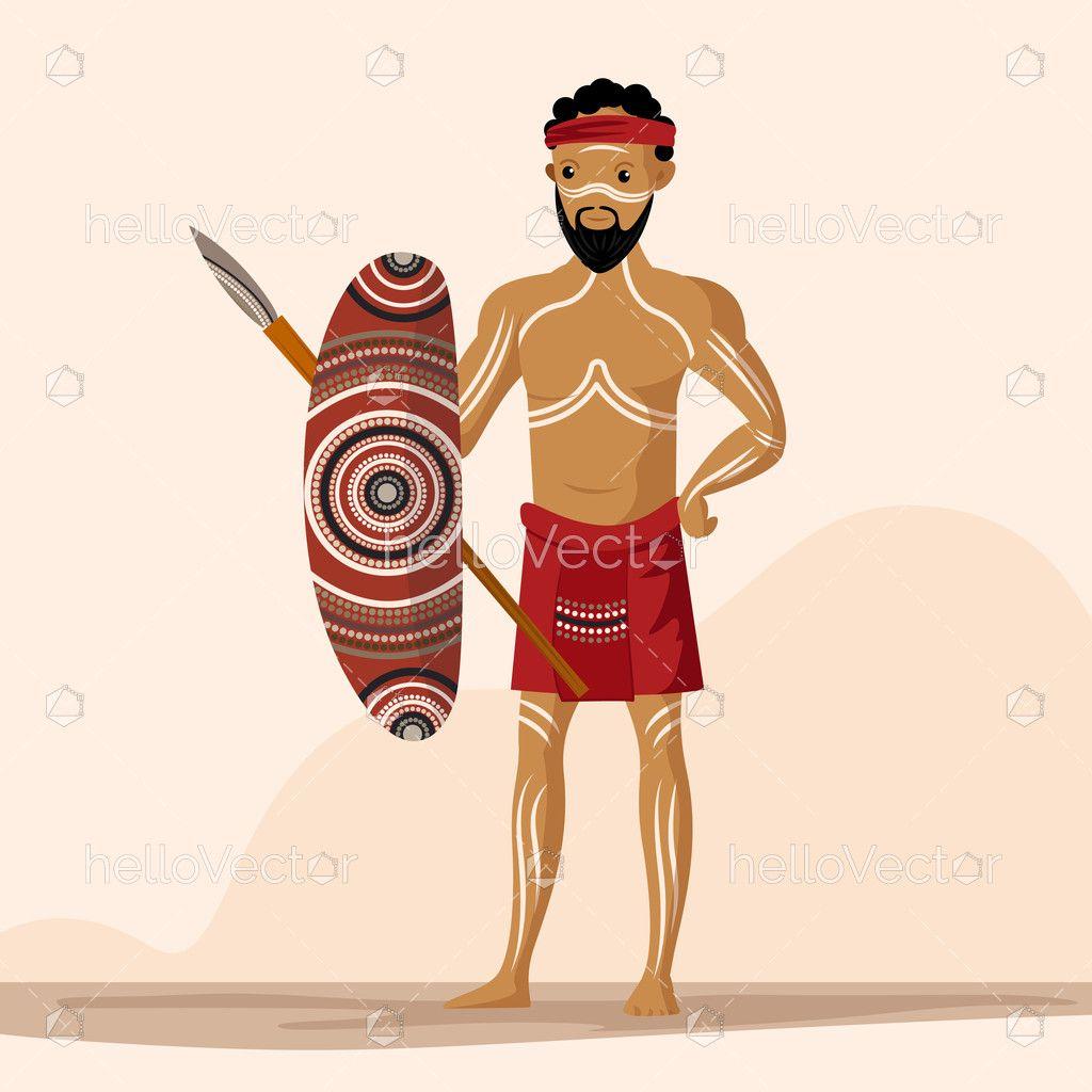 Indigenous People Vector Illustration Download Graphics Vectors Vector Illustration People Illustration Indigenous Peoples