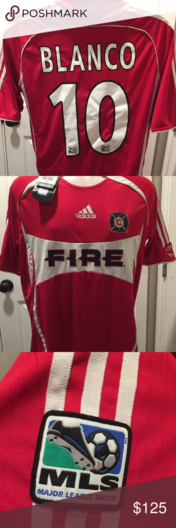 super popular a6d41 ff97e Chicago Fire Soccer Jersey Cuahtemoc Blanco #10 Brand new ...