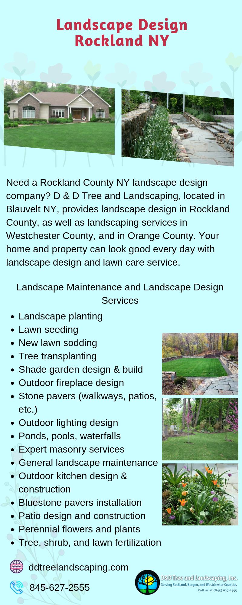 D D Tree And Landscaping Inc Is Offering The Best Landscape Design In Rockland Ny We Landscape Design Services Commercial Landscape Design Landscape Design