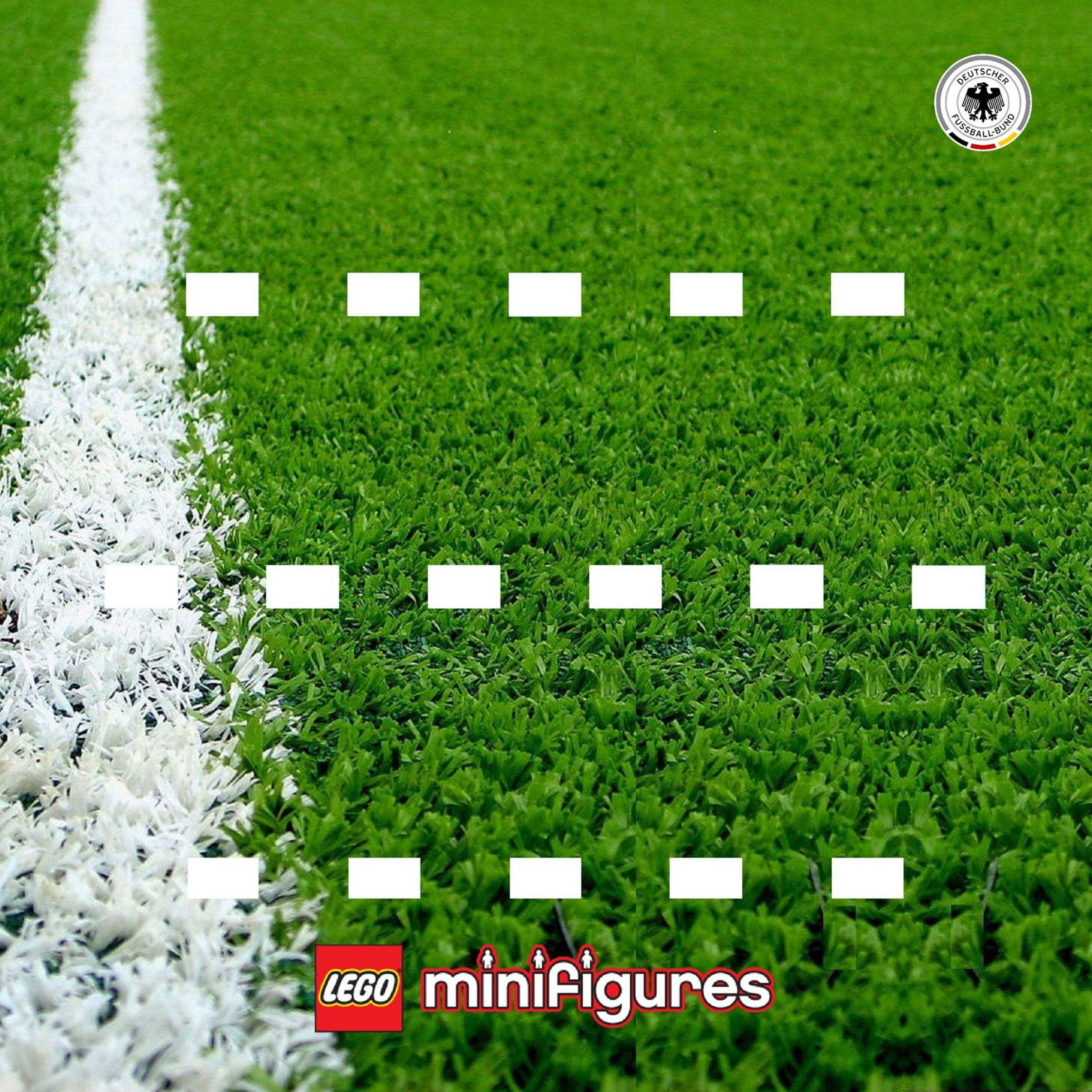 LEGO Minifigures 71014 DFB - Die Mannschaft - Soccer Field - by Sergio - Display Frame Background 230mm - Clicca sull'immagine per scaricarla gratuitamente!