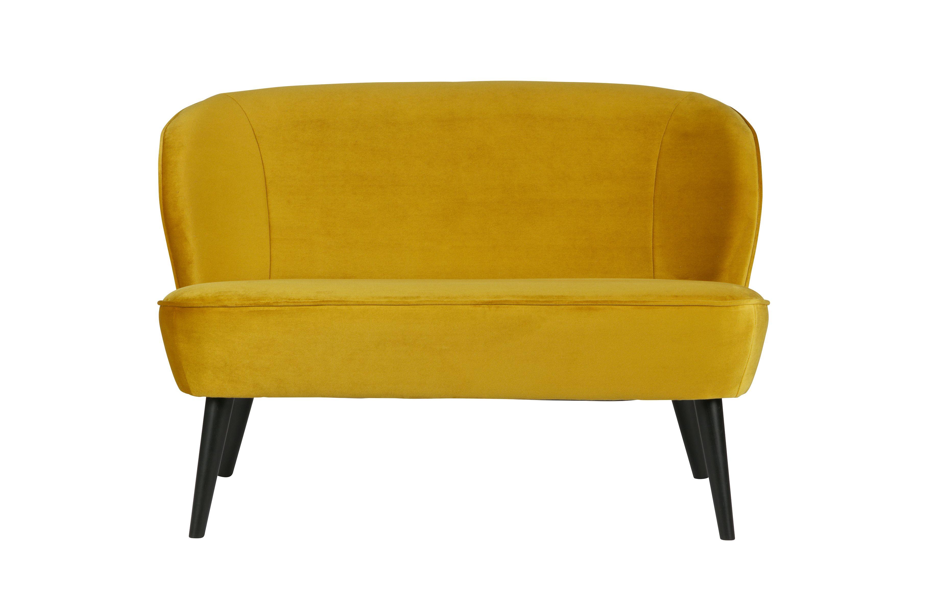 Sara bankje fluweel oker woood okerrrrrr sofa