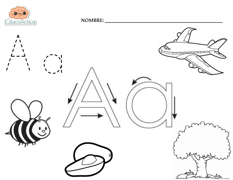 Letra a letra a pinterest letras preescolar y los for Estandares para preescolar