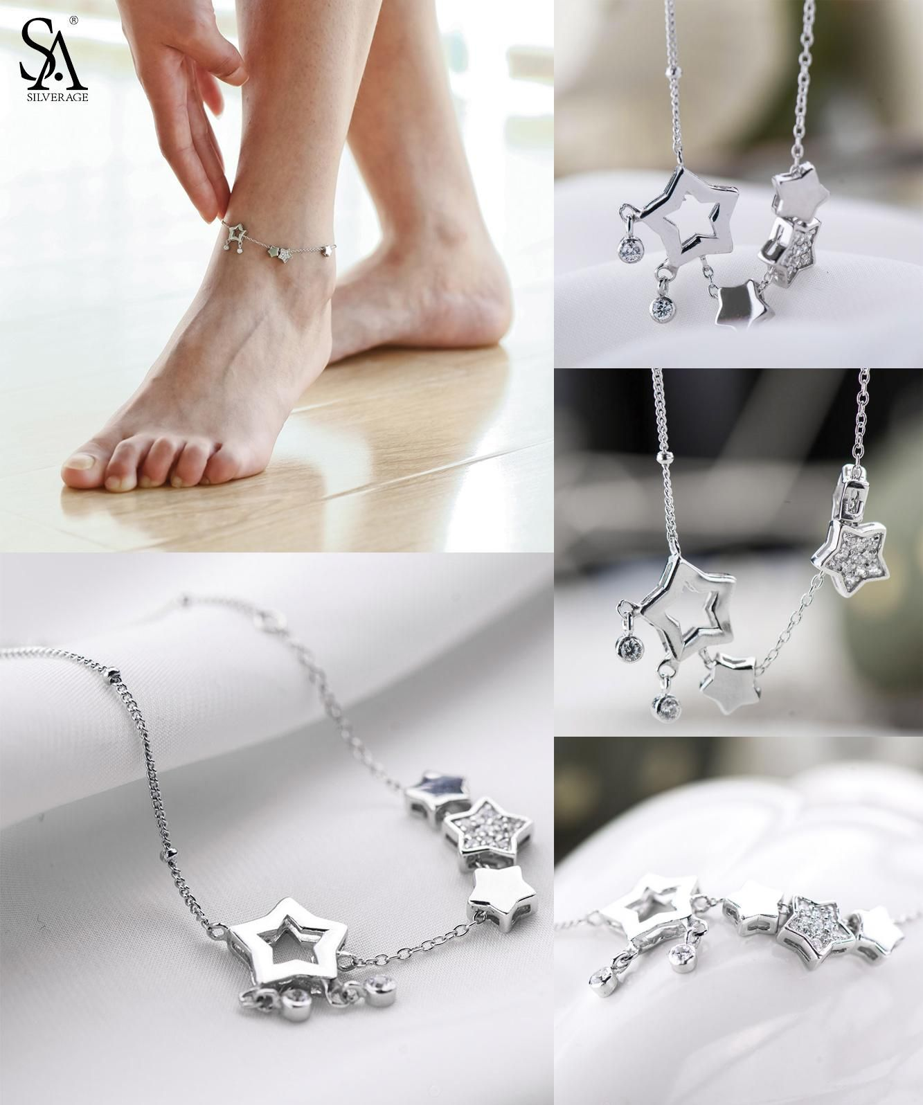 wedding real gifts sa simple sterling fine pin jewelry heart anklets women silverage silver for anklet