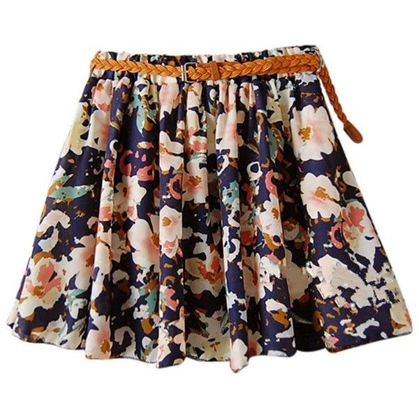 ef6553d5a3 Faldas Cortas · Trajes Polyvore · AM CLOTHES Womens Girl Lady Floral Short  Princess Skirt (A-BIG FLOWER.