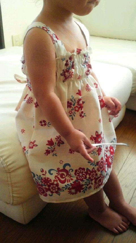 ba4897c227dfb 簡単 キッズ用ワンピースの作り方 手順|9|子ども服|ベビー・キッズ|ハンドメイドカテゴリ|ハンドメイド、手作り作品の作り方ならアトリエ