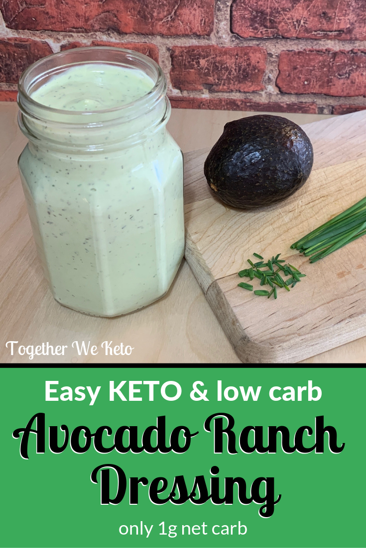 Best Keto Avocado Ranch Dressing Recipe #avocadoranch