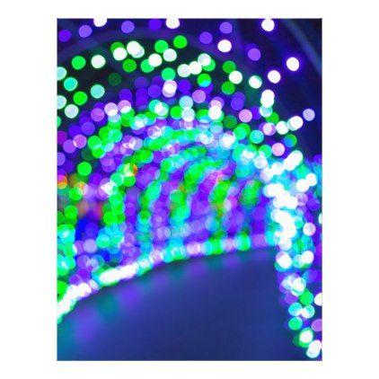 Christmas Lights Decoration Blurred Defocused Boke Letterhead