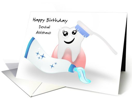 Happy Birthday Dental Assistant Sparklingly Fun Day Card