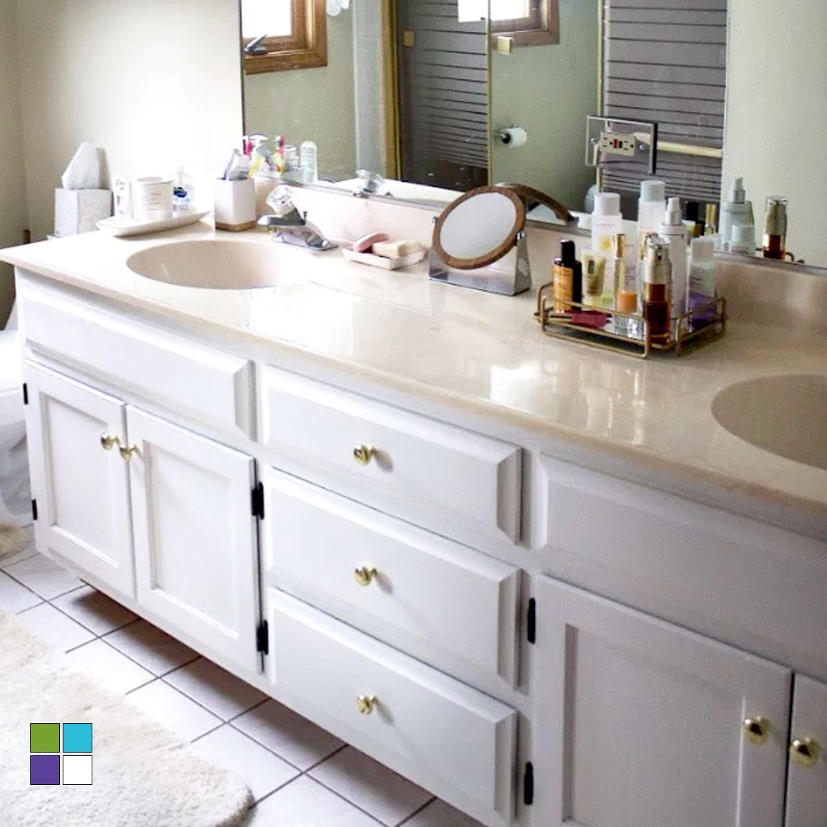 Brighten Up Your Bathroom With Beyond Paint You Can Roll Or