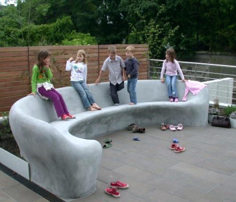 gartenbank aus beton sitzbank aus beton selber machen sitzbank aus ...