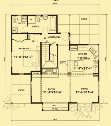 small house plan Plans Pinterest Small house plans Smallest