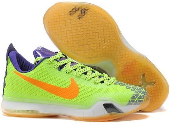 f0817d25a17 Kobe 10 X Green Purple Orange