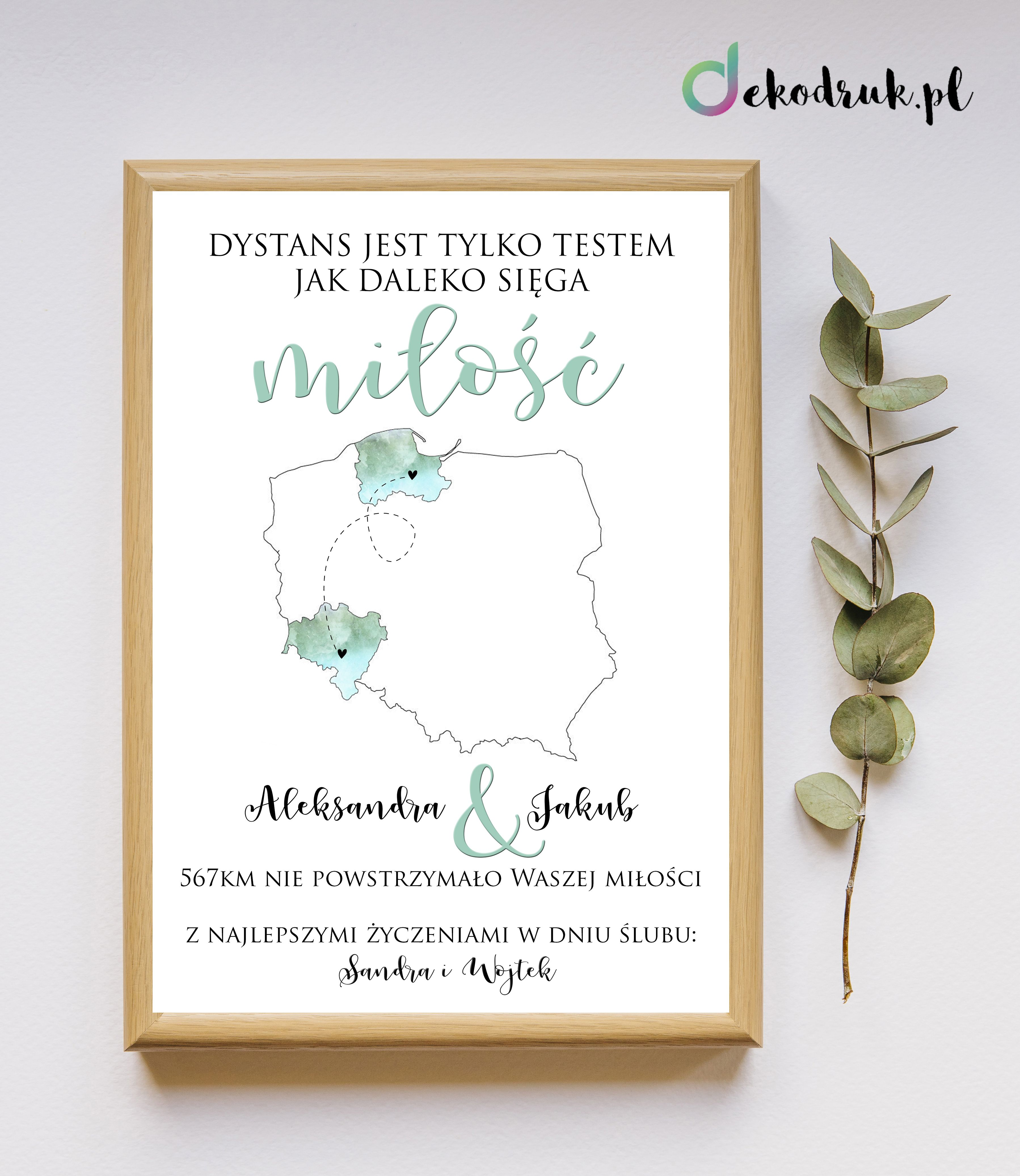Plakat Na Slub Prezent Na Slub Rocznice Slubu With Images