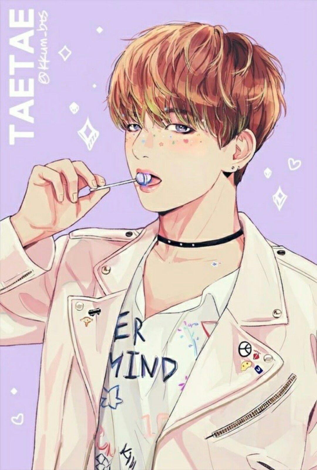 BTS V fanart cr. kkum_bts Do not edit. Taehyung
