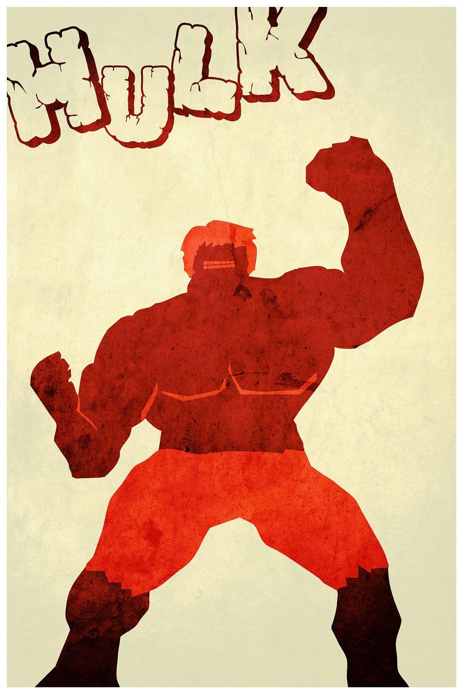 The Avengers Minimalism: The Hulk | I Feel Like Something Nerdy Just ...